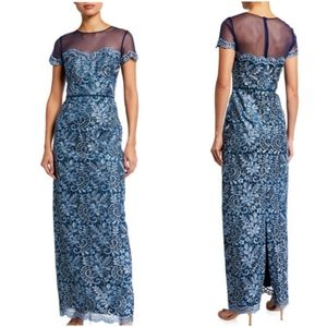 JS Collections MOB Floral Metallic Gown
